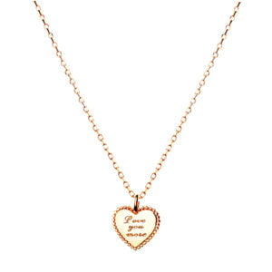 Love you more pendent necklace gold
